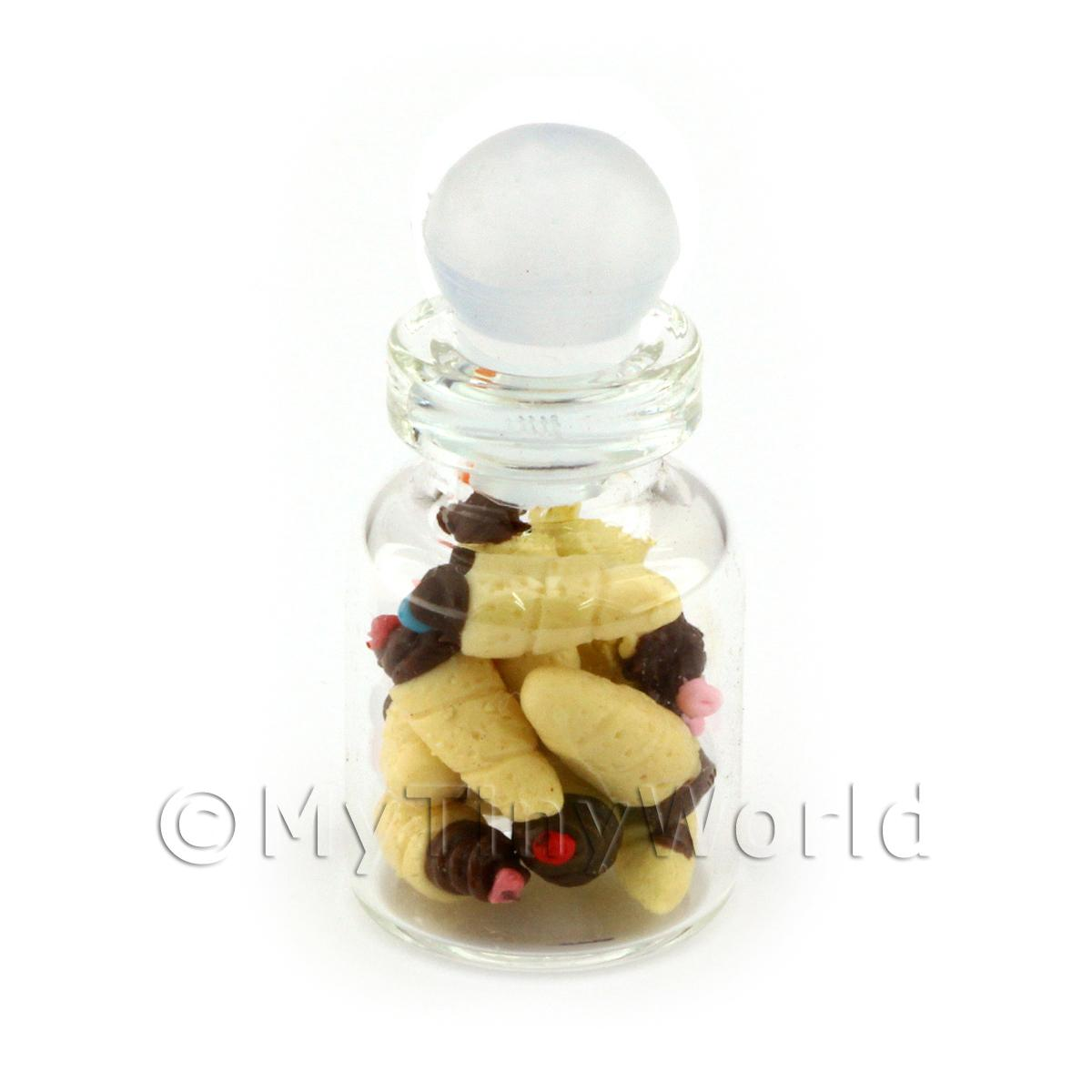 Dolls House Miniature Chocolate Tipped Cones In A Glass Jar