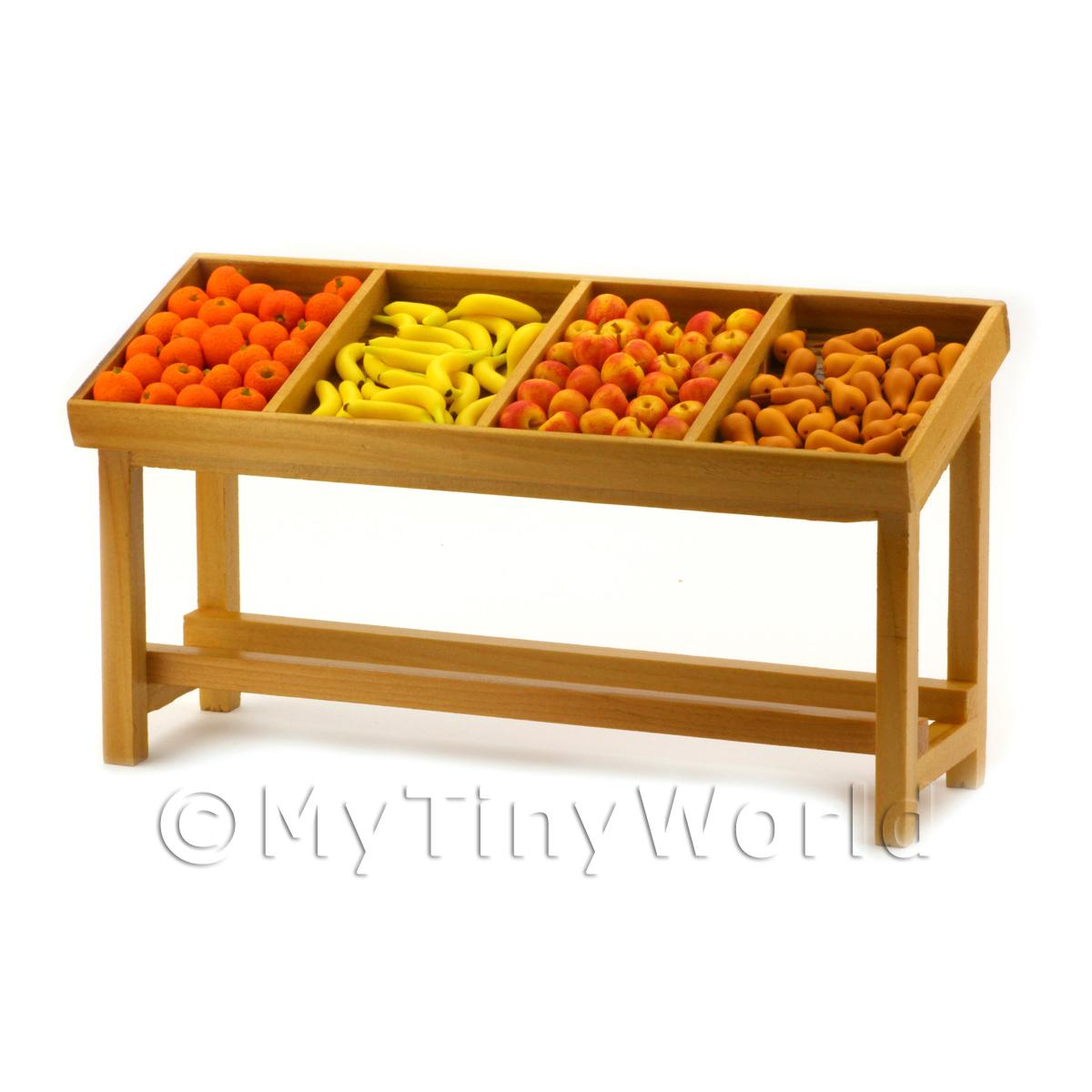 Dolls House Miniature Fully Stocked Small Fruit Stall