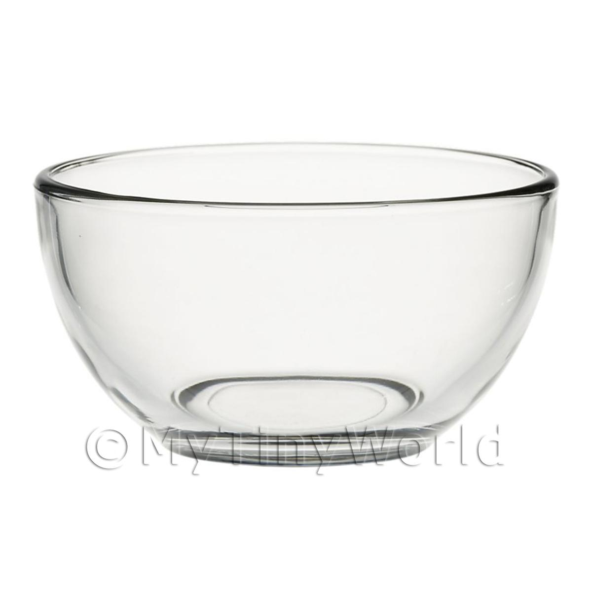 Dolls House Miniature Handmade  Large Glass Mixing Bowl