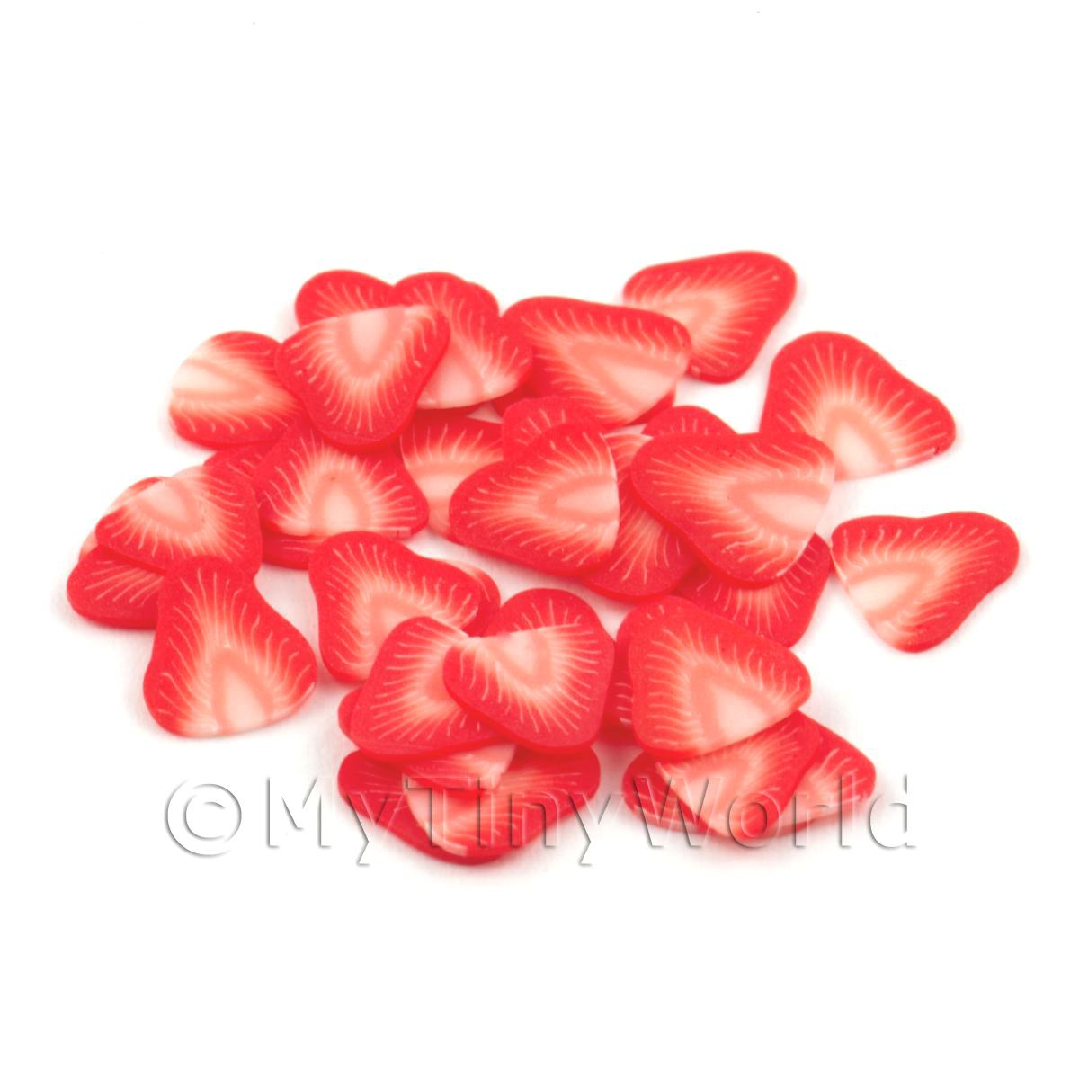 50 Strawberry Nail Art Cane Slices (NS2)