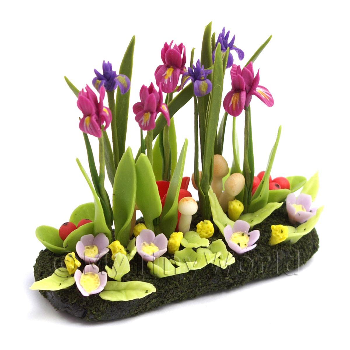 Dolls House Miniature Large DIY Flower Bed (DIY1)