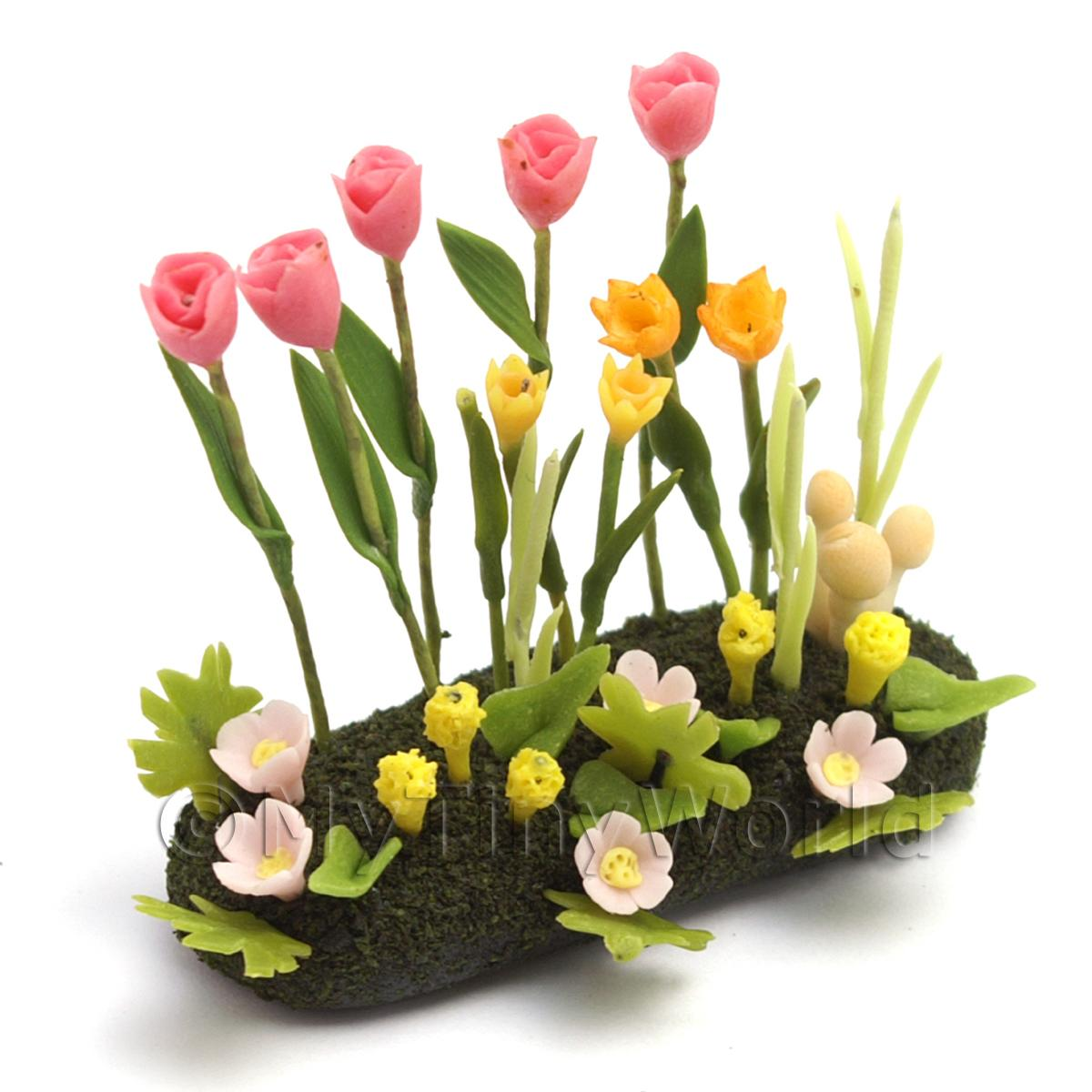 Dolls House Miniature Large DIY Flower Bed (DIY9)