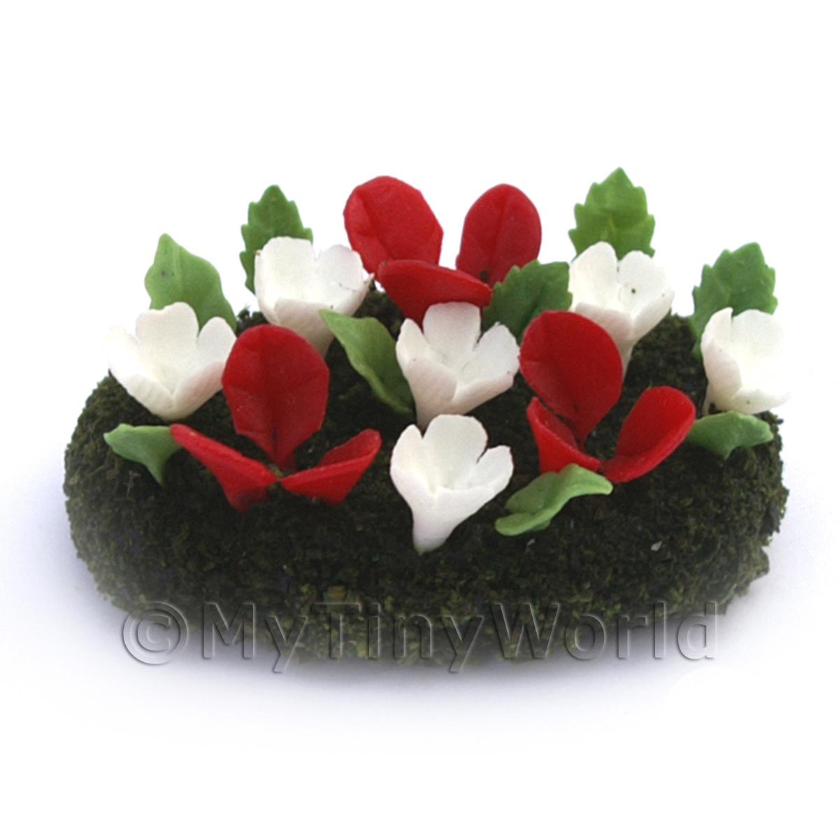 Dolls House Miniature Small DIY Flower Bed (DIY17)