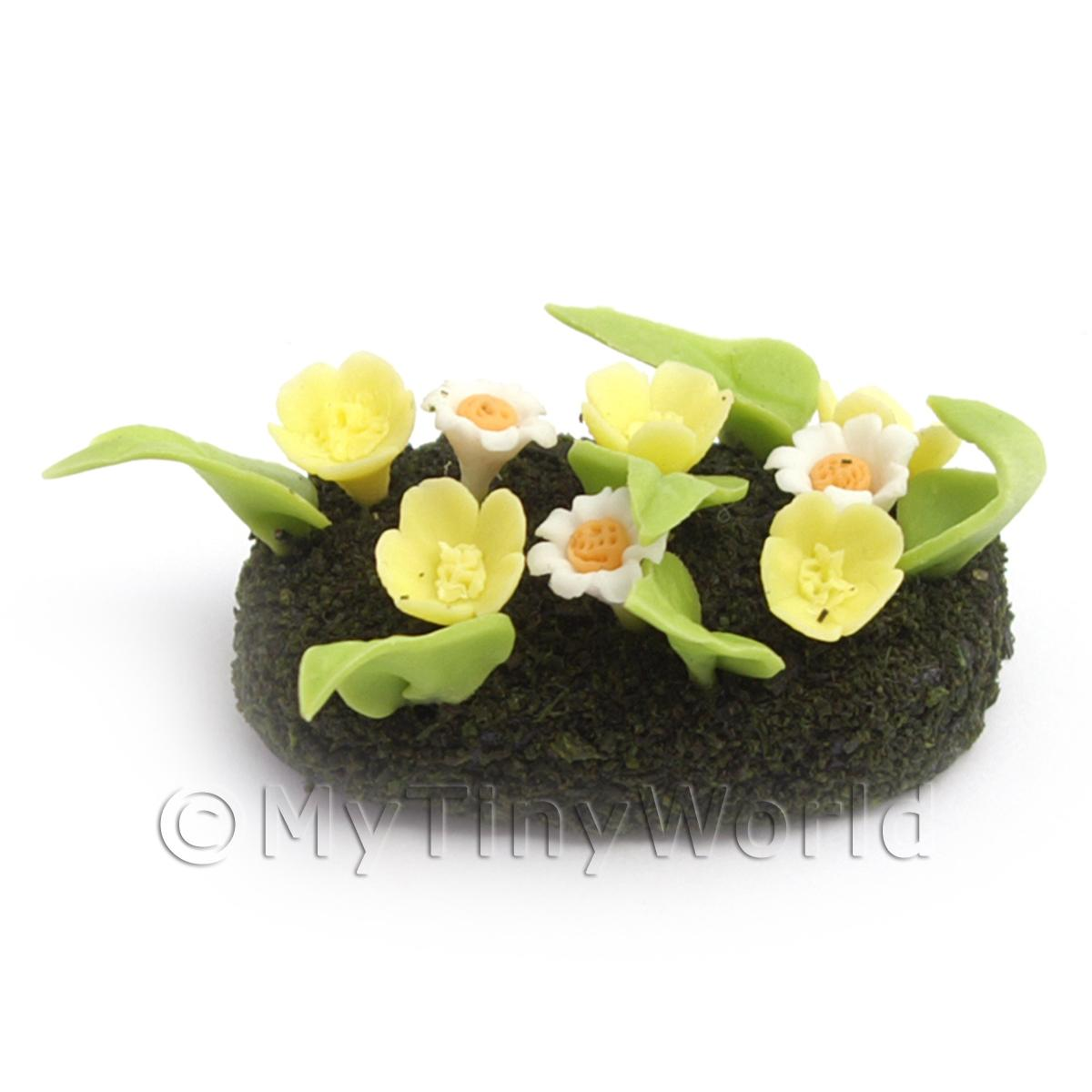 Dolls House Miniature Small DIY Flower Bed (DIY18)
