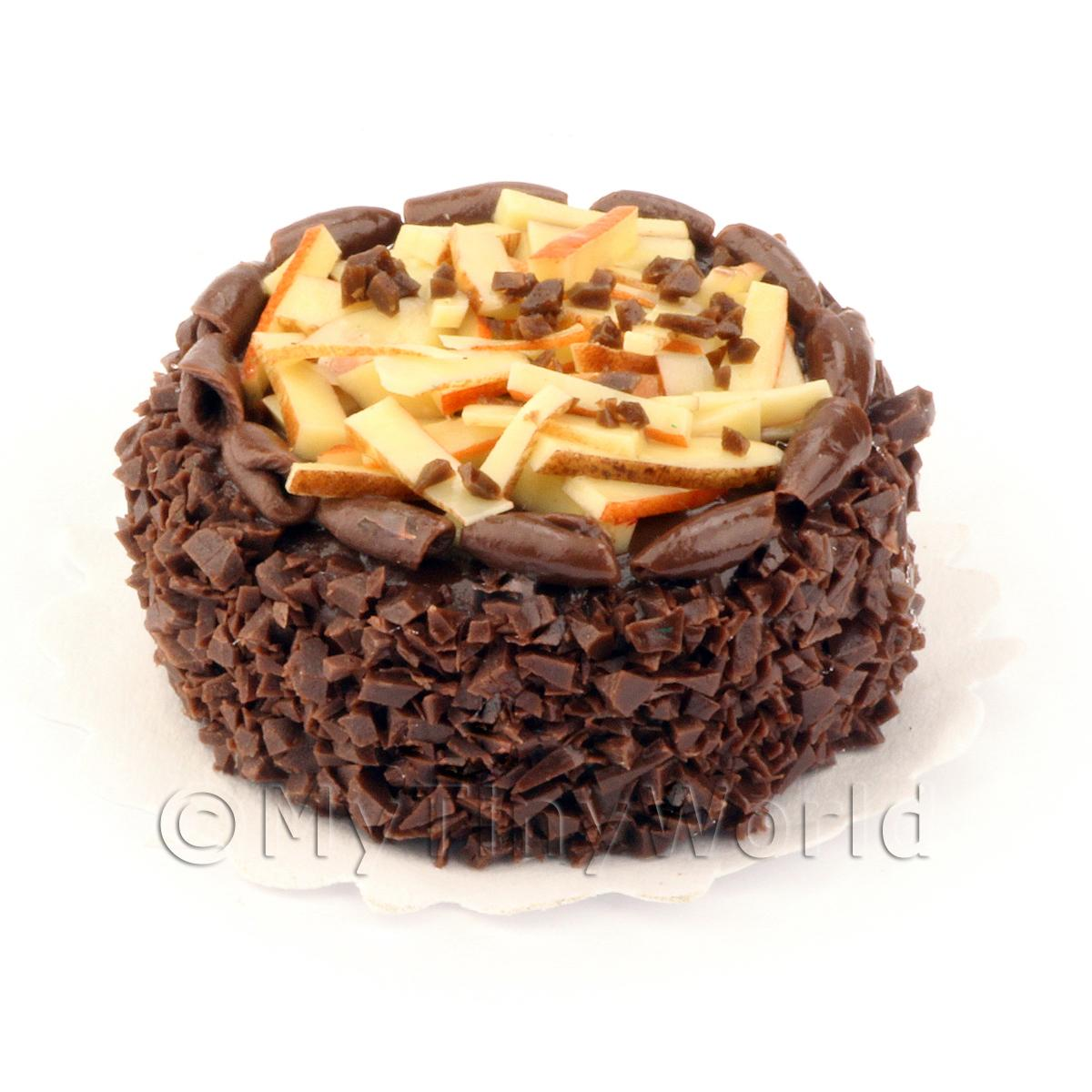 Dolls House Miniature Rich Double Chocolate Cake