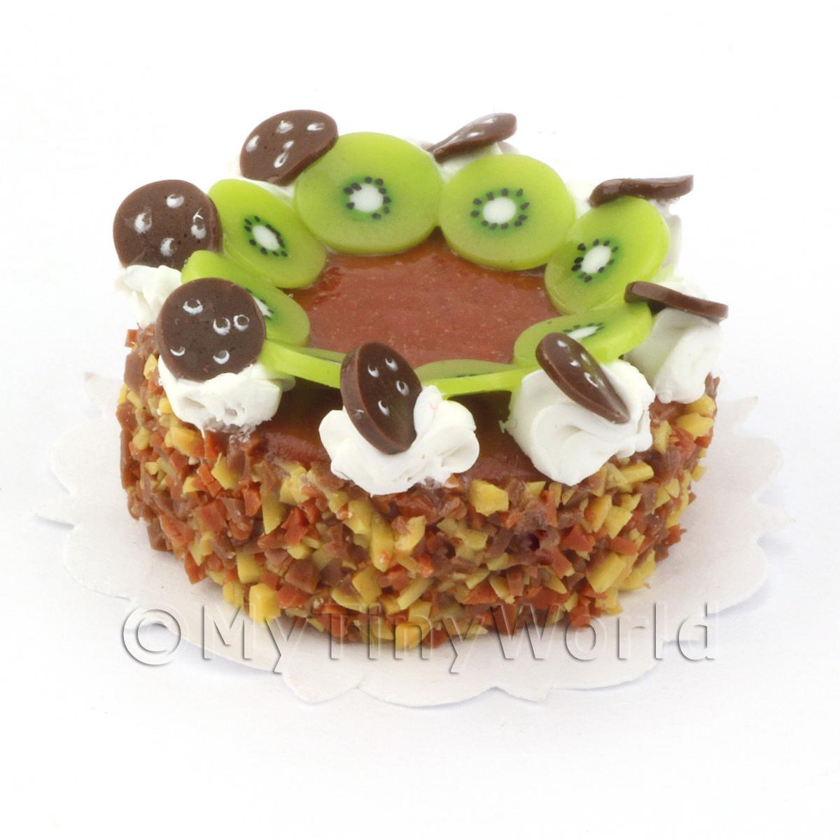 Dolls House Miniature Sticky Toffee Gateaux