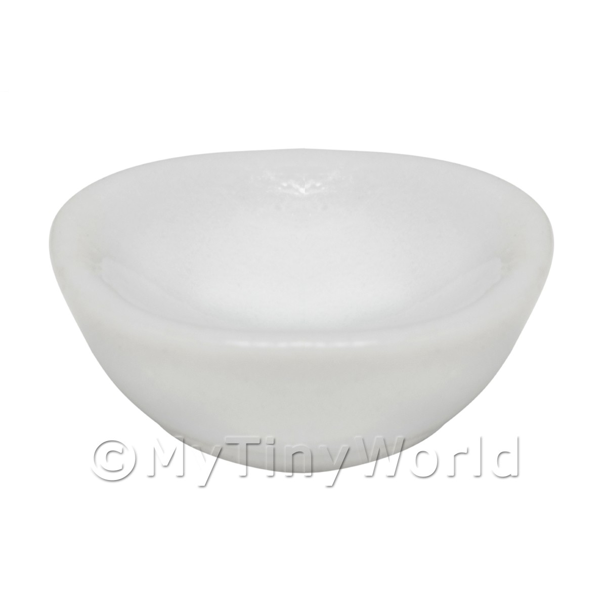 15mm Dolls House Miniature White Glazed Ceramic Bowl