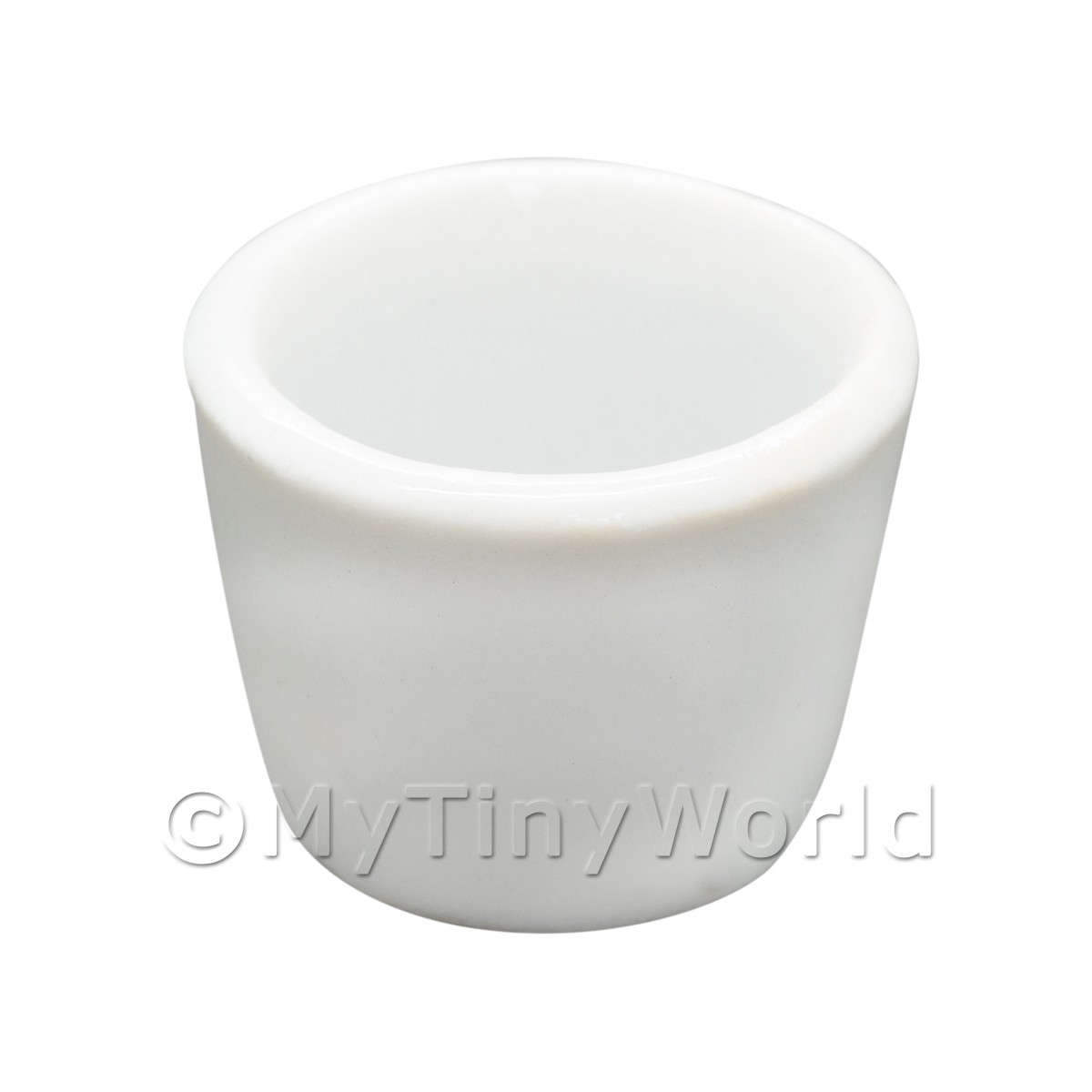 Dolls House Miniature White Glazed Ceramic Plant Pot
