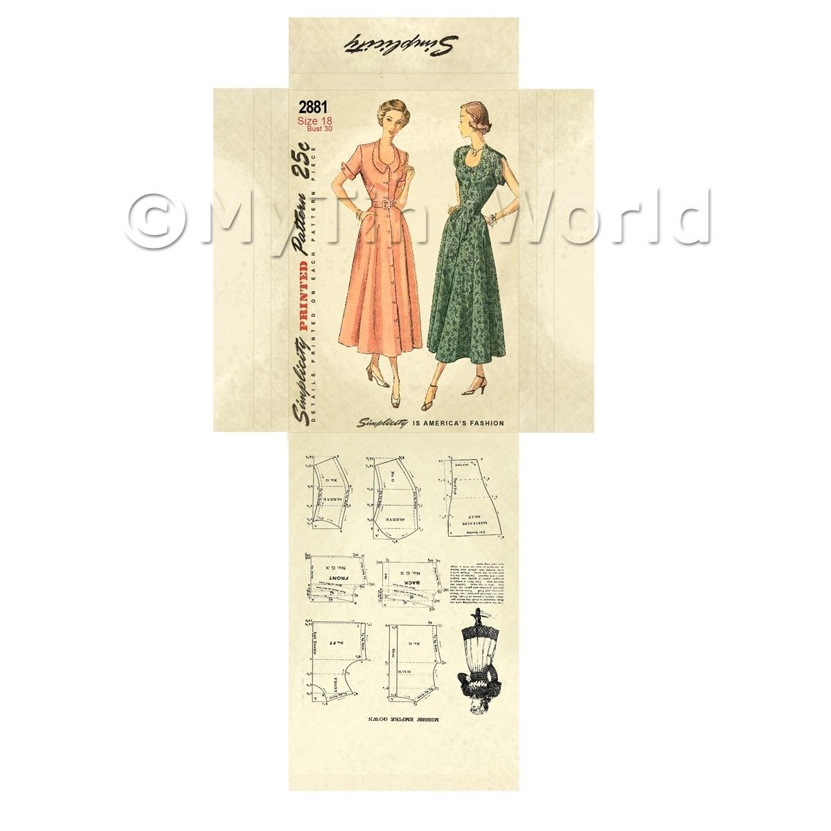 Doll House DIY Simplicity Dress Pattern (DPD029) | eBay