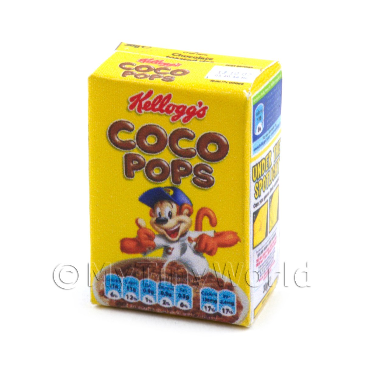 Dolls House Miniature Box of Kellogs Coco Pops