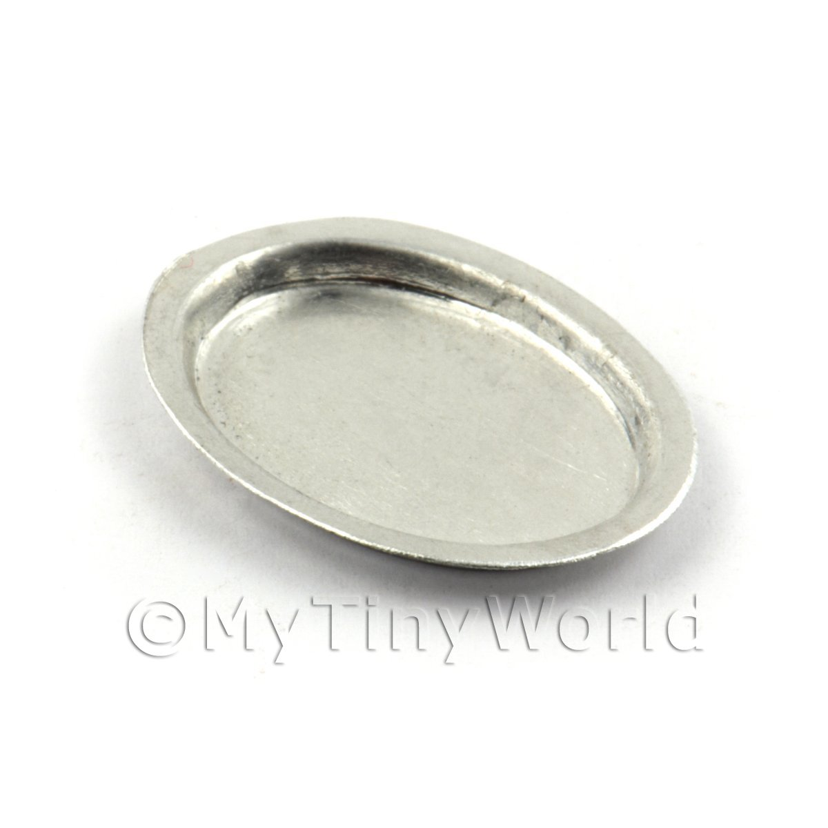 Dolls House Miniature 34mm Oval Aluminium Baking Tin