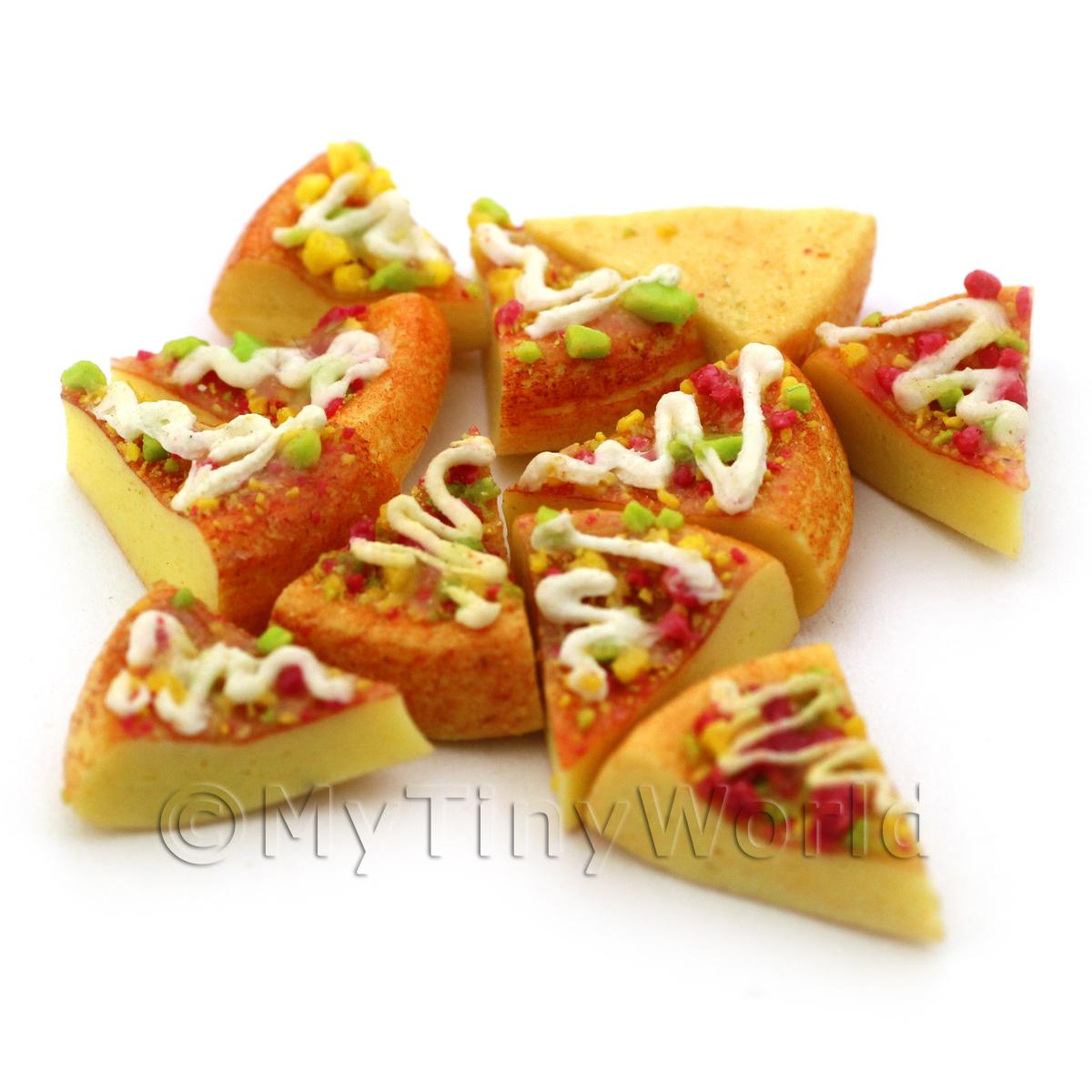 Dolls House Miniature Pizza Style Fancy Cake Slice