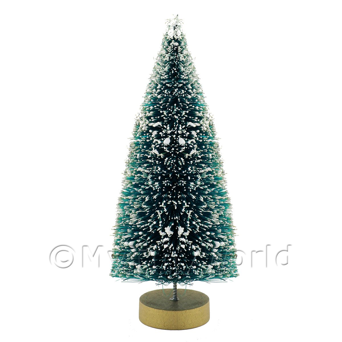 dolls house miniature medium snow effect christmas tree