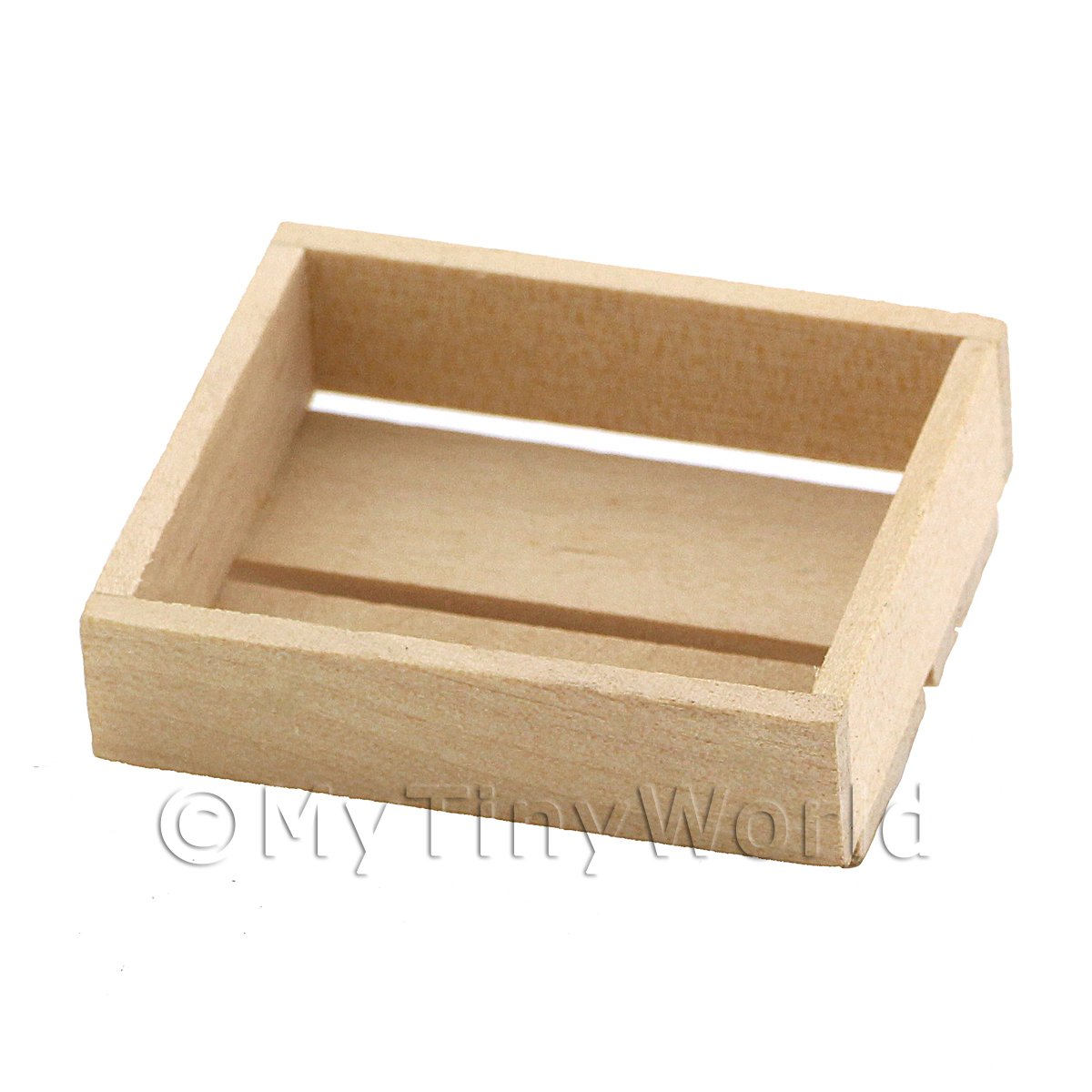Dolls House Miniature Small Wood Double Slated Crate
