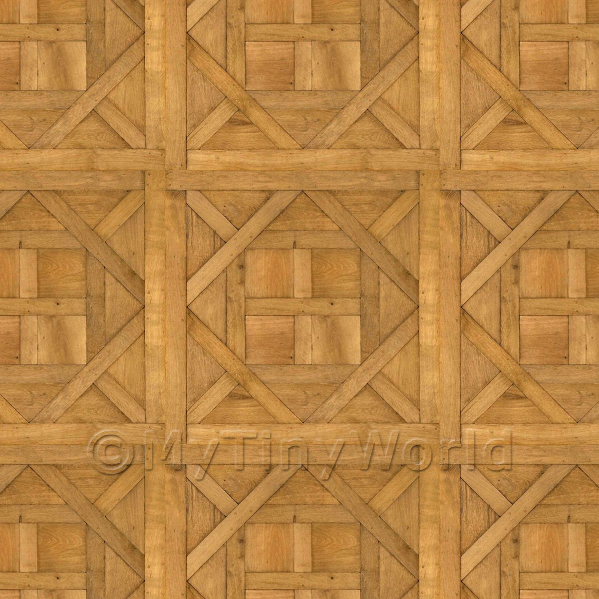 Dolls House Aremberg Large Panel Wood Effect Parquet Floor