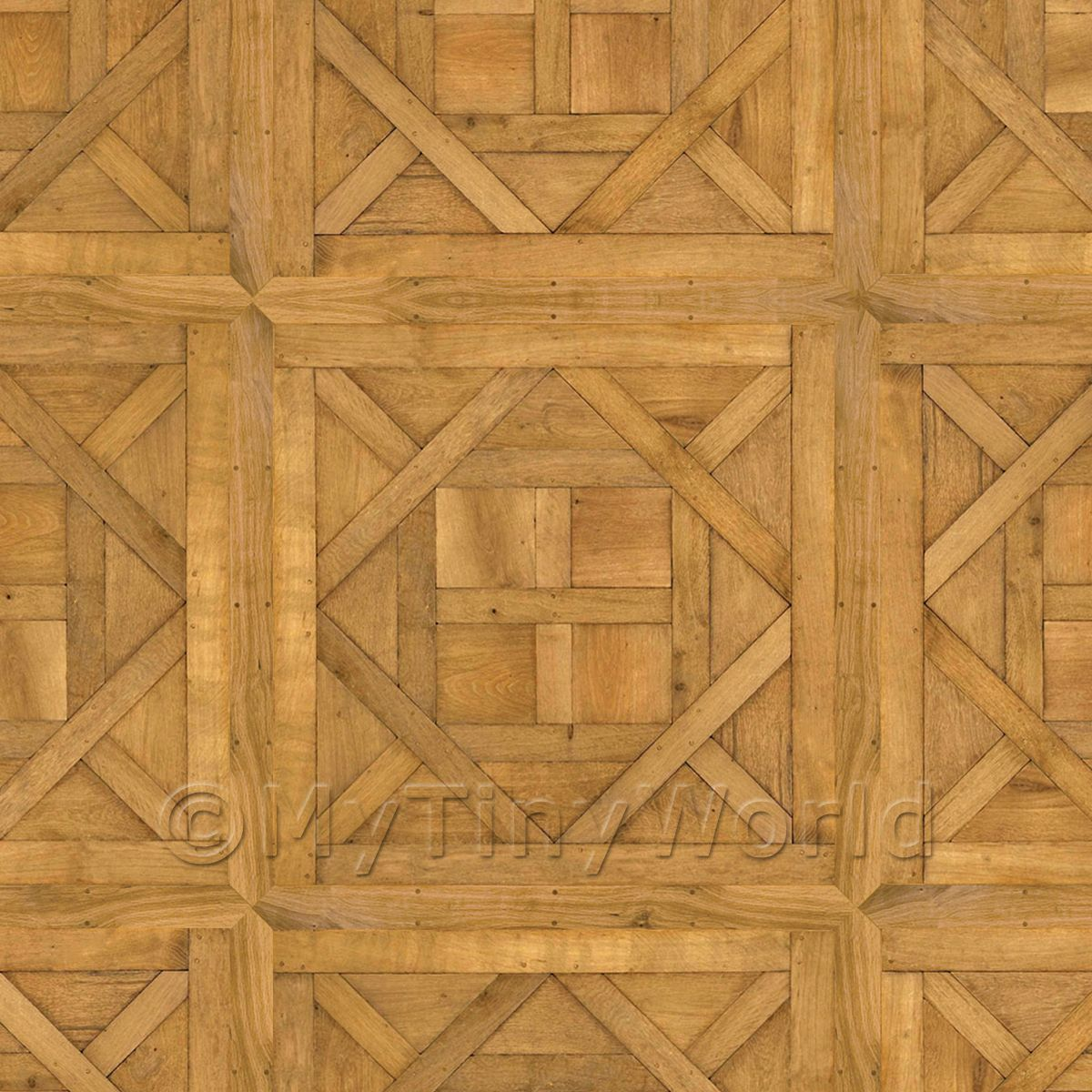 Dolls House Aremberg Large Panel Parquet With Cross Frame Floor