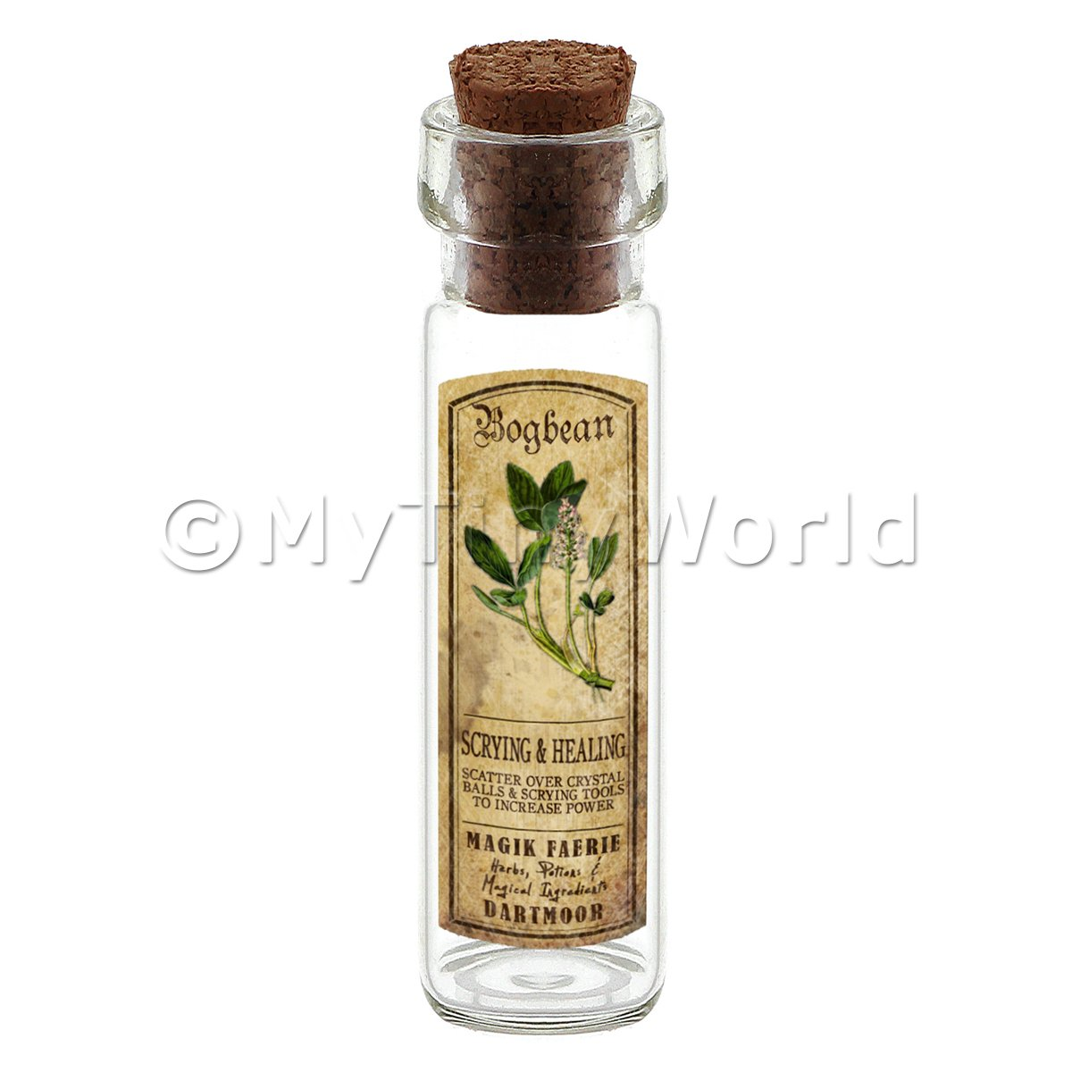 Dolls House Apothecary Bogbean Herb Long Colour Label And Bottle