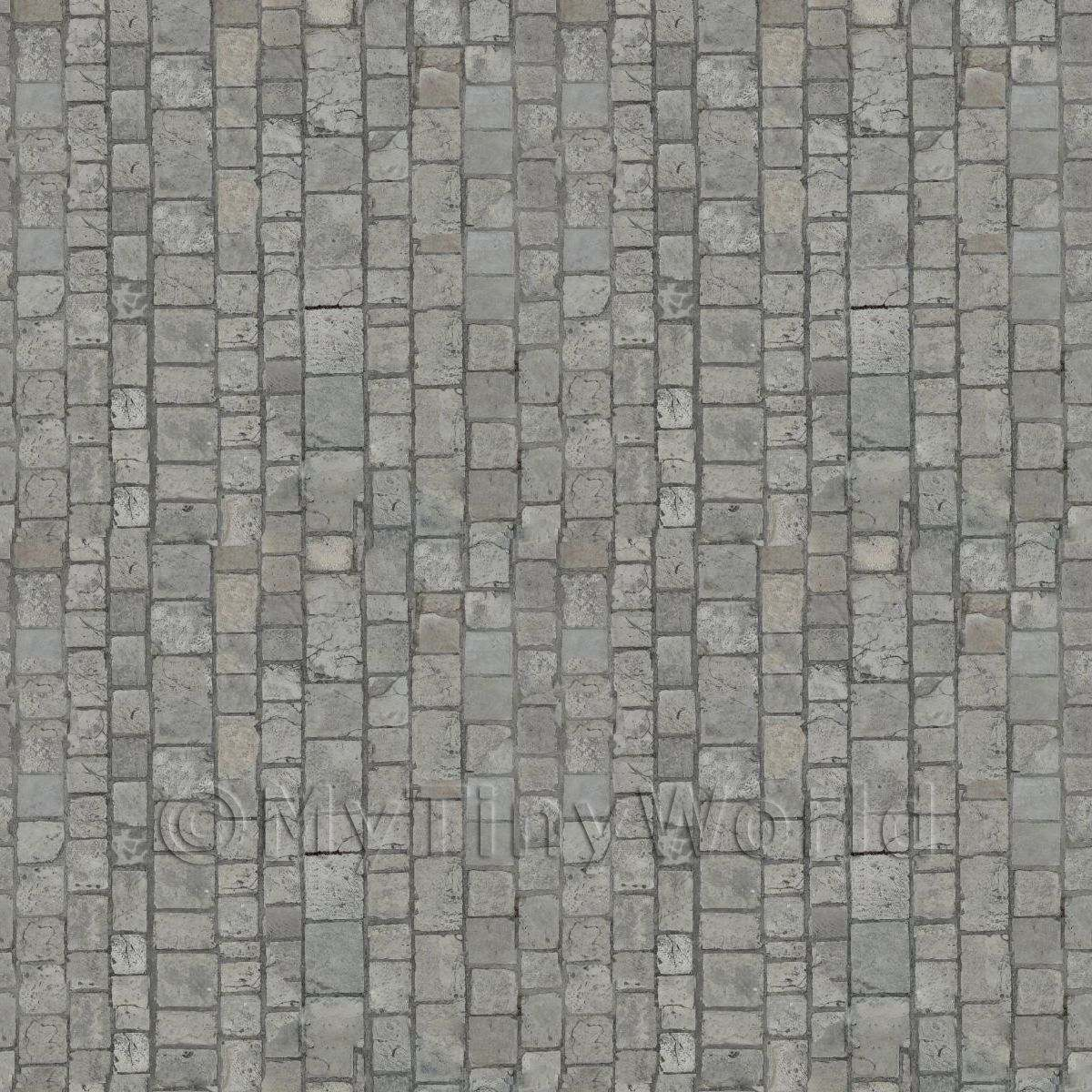 Dolls House Miniature Clean Granite Cobblestone Pattern Cladding