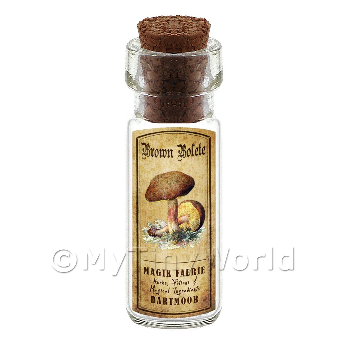 Dolls House Apothecary Bitter Bolete Fungi Bottle And Colour Label