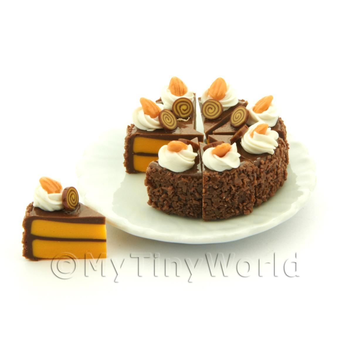 Miniature Whole Sliced Chocolate Toffee Cake