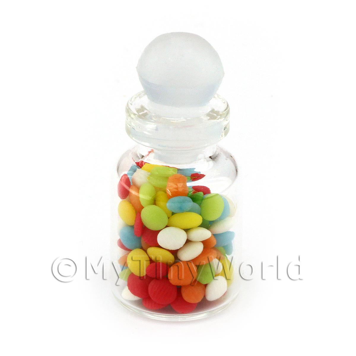Dolls House Miniature Handmade Boiled Sweets In A Glass Jar