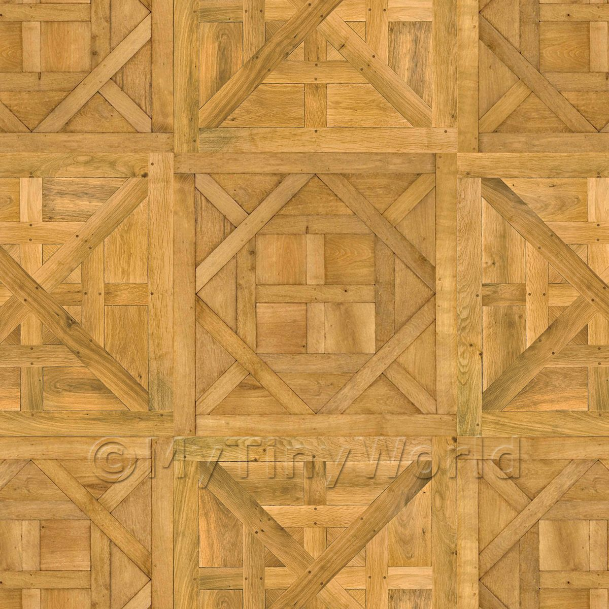 Dolls House Caserta / Aremberg Mixed Panel Parquet Flooring