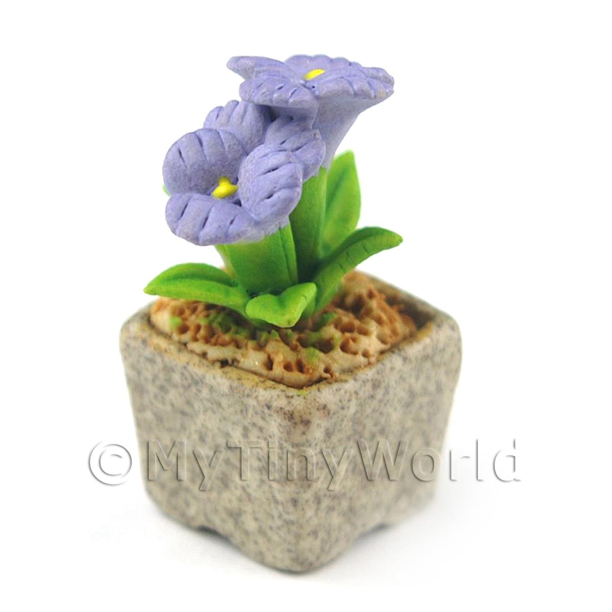 Miniature Handmade Violet Coloured Ceramic Flower (CFV10)