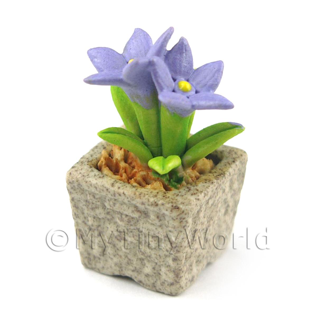 Miniature Handmade Violet Coloured Ceramic Flower (CFV9)