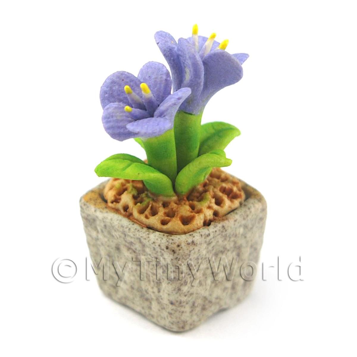 Miniature Handmade Violet Coloured Ceramic Flower (CFV1)