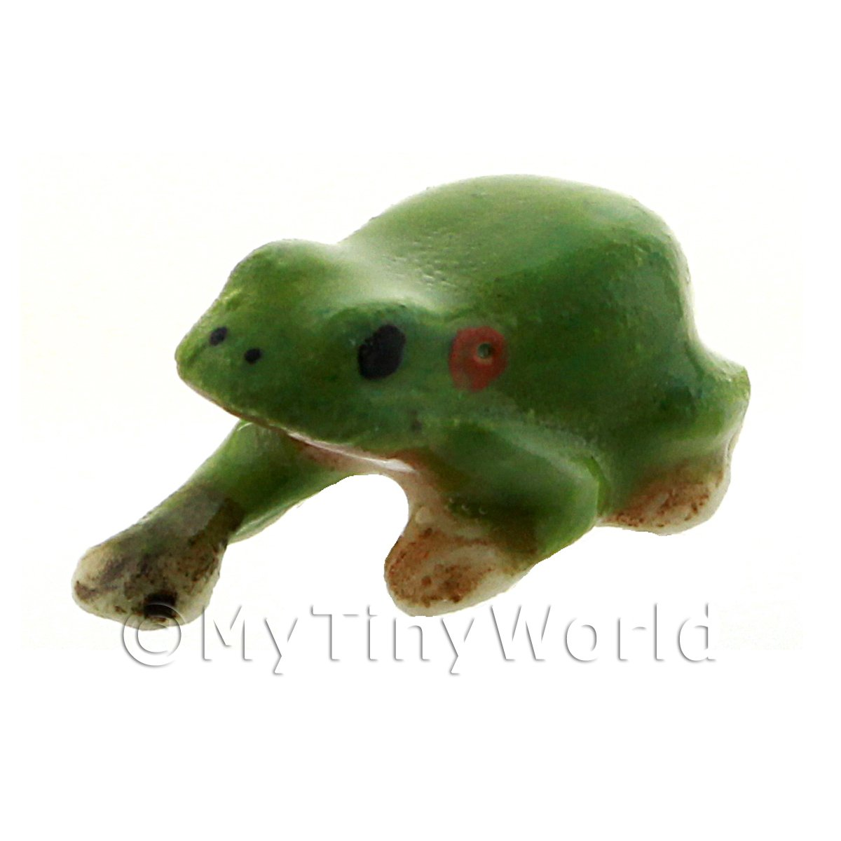 Dolls House Miniature Ceramic Green Tree Frog