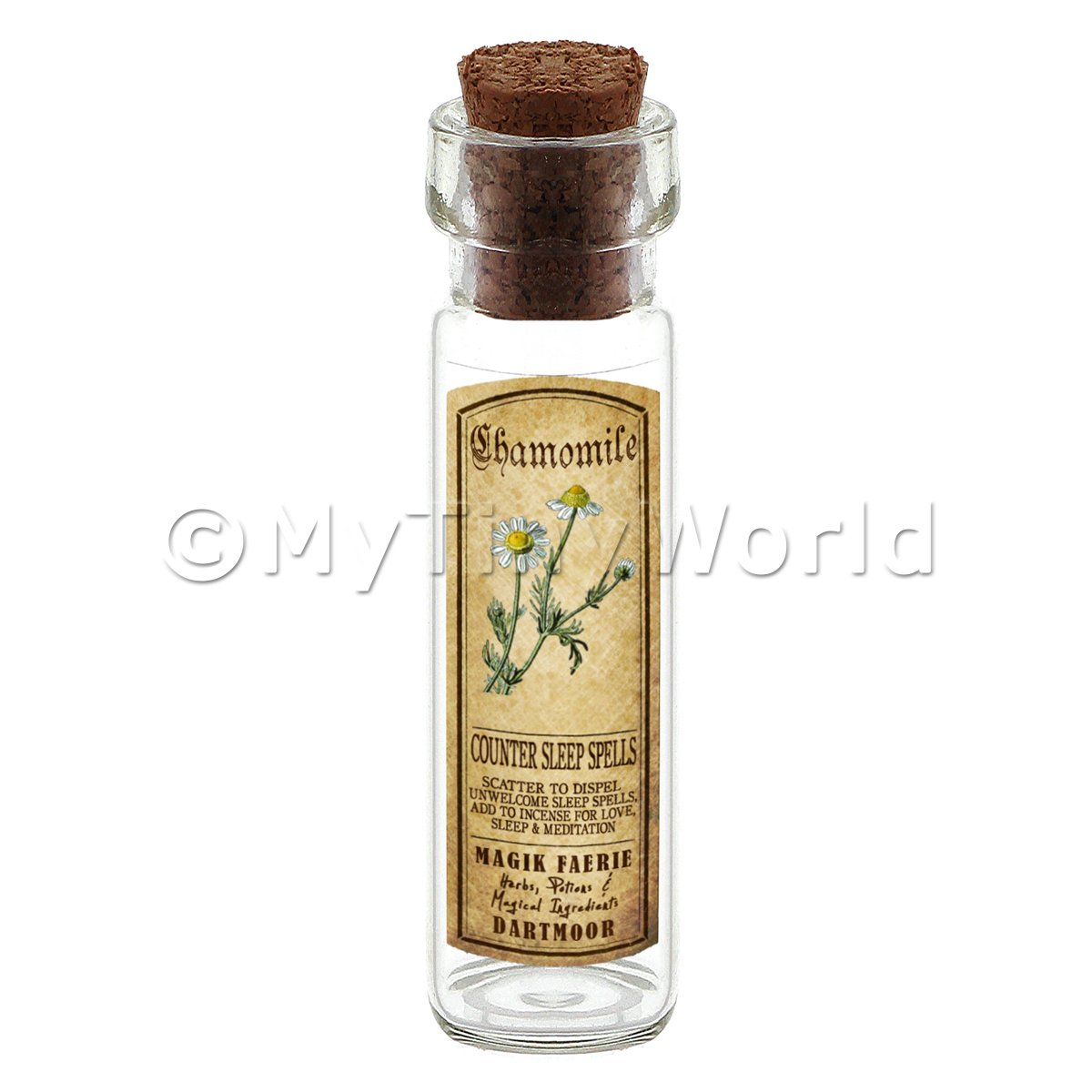 Dolls House Apothecary Chamomile Herb Long Colour Label And Bottle