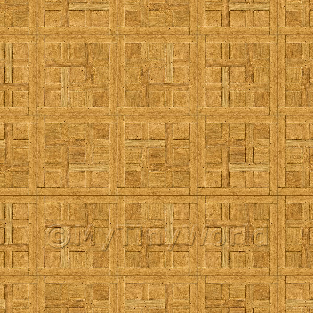 Dolls House Chantilly Small Panel Parquet Wood Effect Flooring