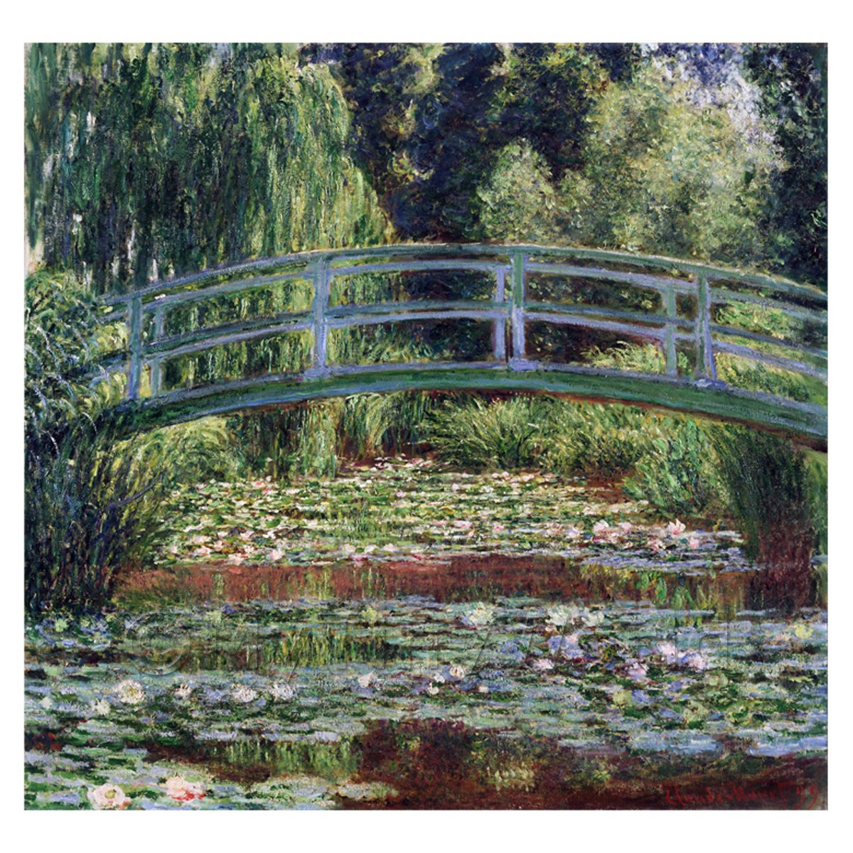 Claude Monet Painting  The Japanese Footbridge At Giverny