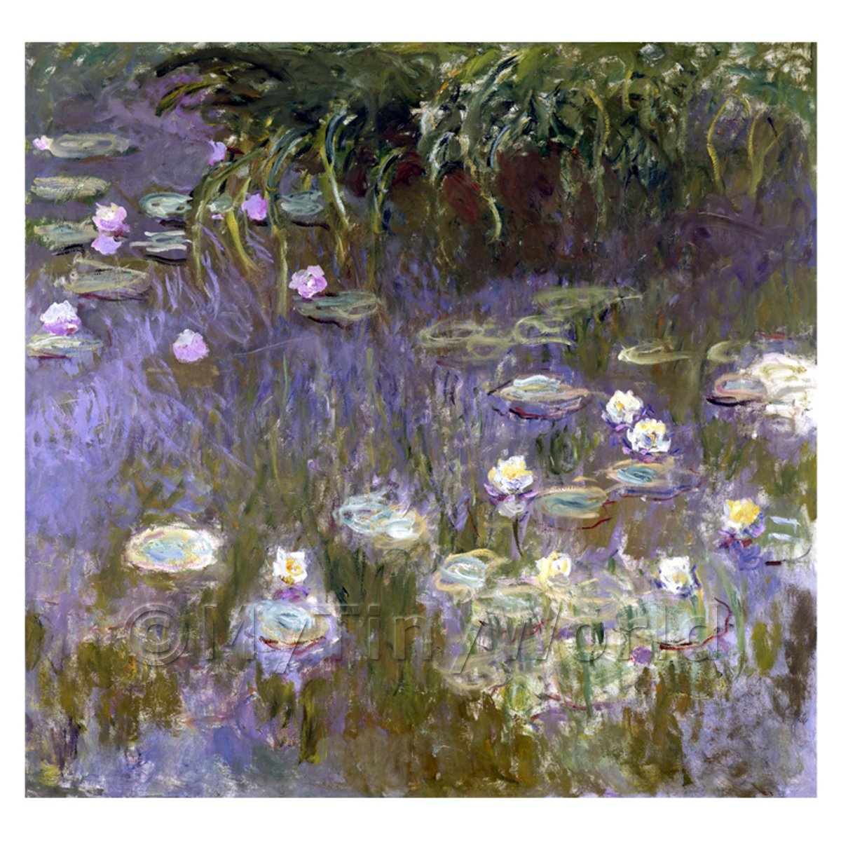 Claude Monet Painting  Water Lilies