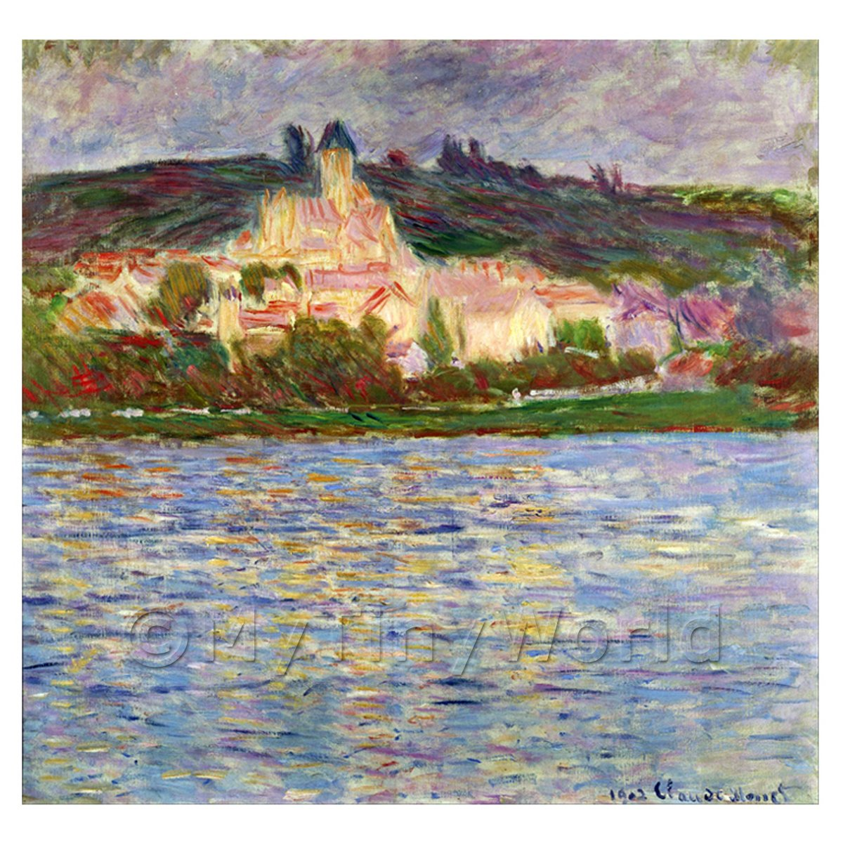 Claude Monet Painting Vetheuil