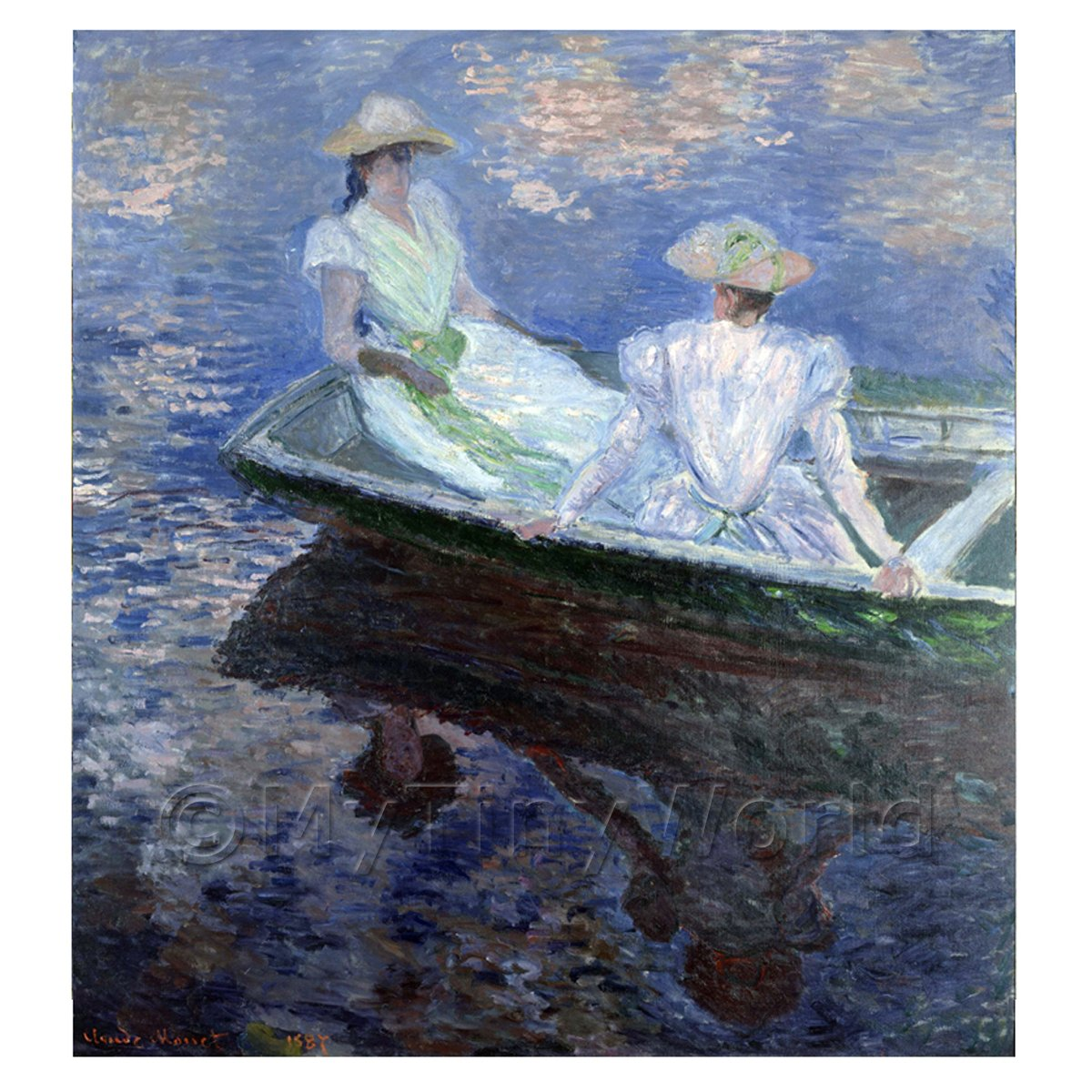 Claude Monet Painting On The Boat
