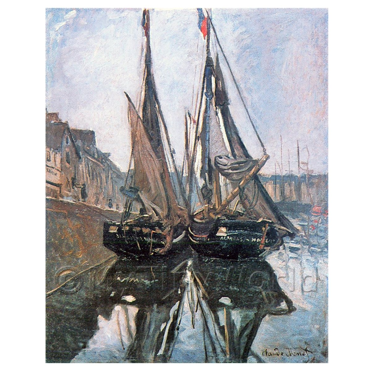 Claude Monet Painting Fishing Boats At Honfleur