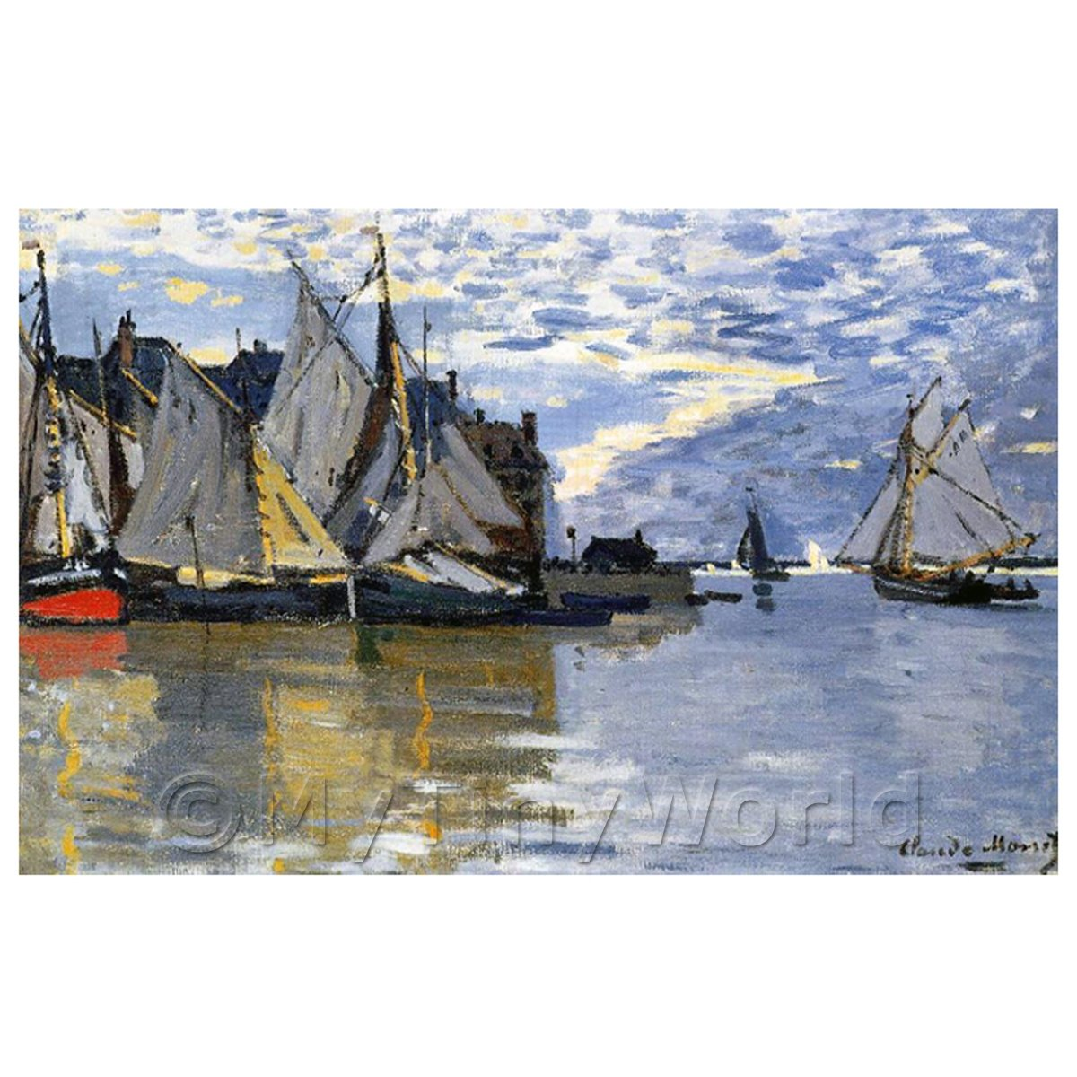 Claude Monet Painting Sailboats