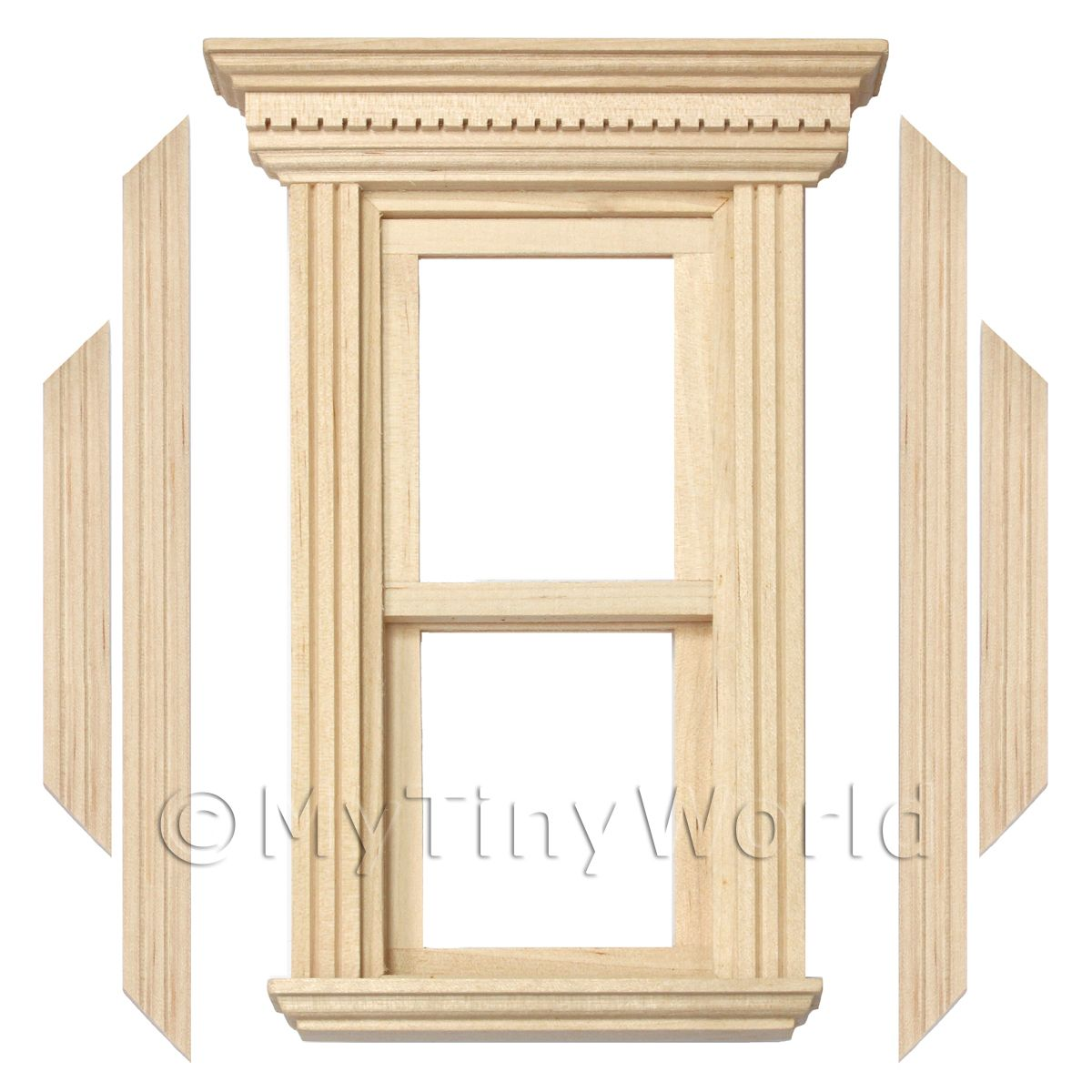 Wood Window Components : Dolls house miniature components