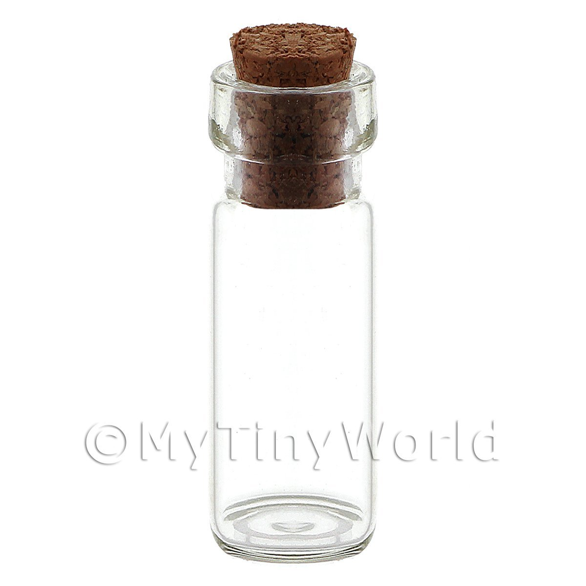 Dolls House Miniature 20mm Clear Glass Jar With Removable Cork
