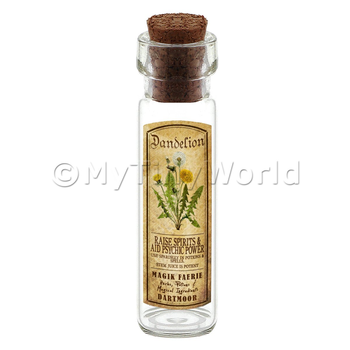Dolls House Apothecary Dandelion Herb Long Colour Label And Bottle