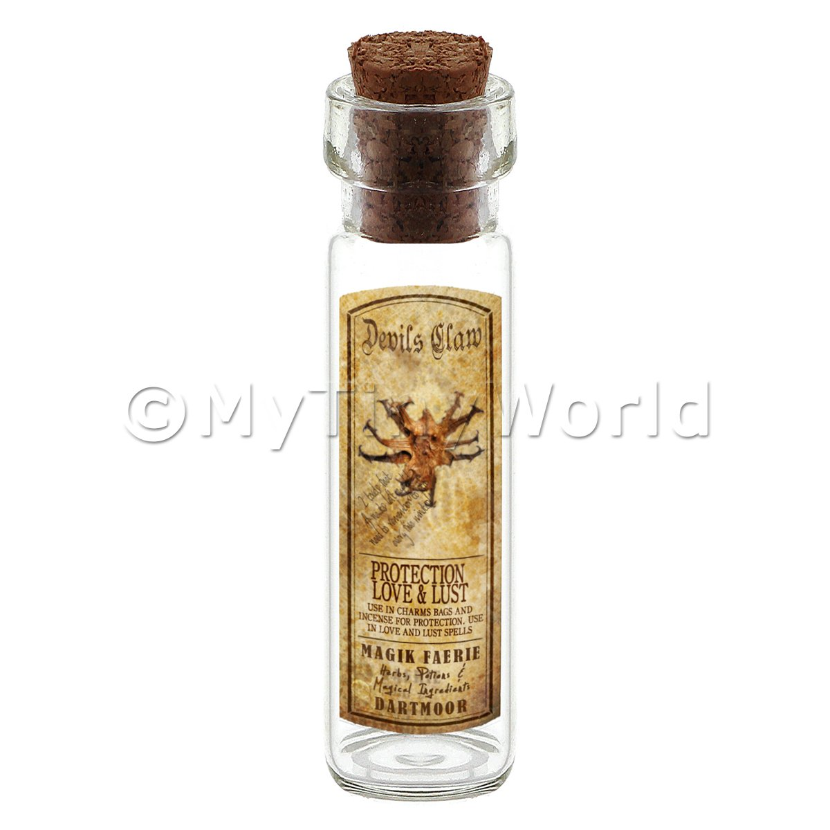 Dolls House Apothecary Devils Claw Herb Long Colour Label And Bottle