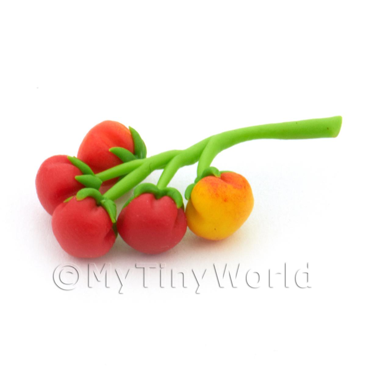 Dolls House Miniature Tomatoes On The Vine