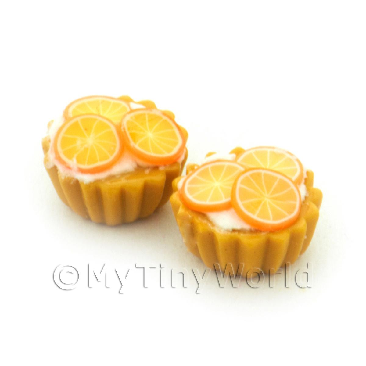Dolls House Miniature Crystalised Orange Tart