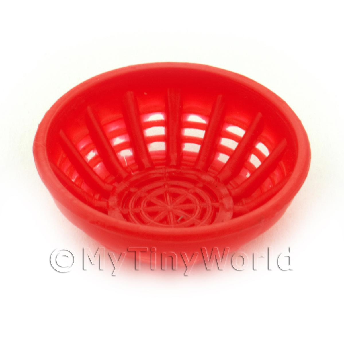 Large Dark Red Dolls House Miniature Plastic Bowl