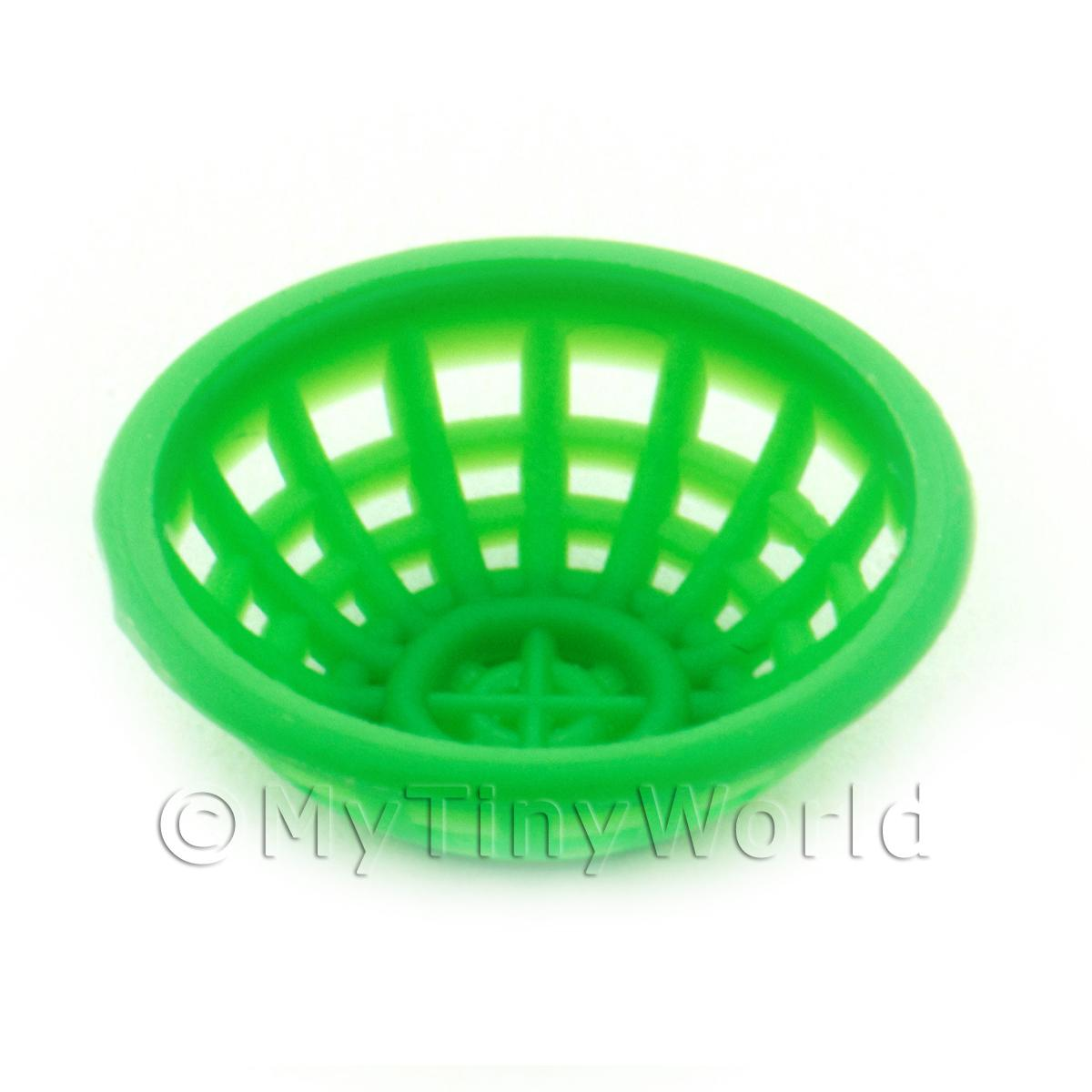 Small Green Dolls House Miniature Plastic Bowl