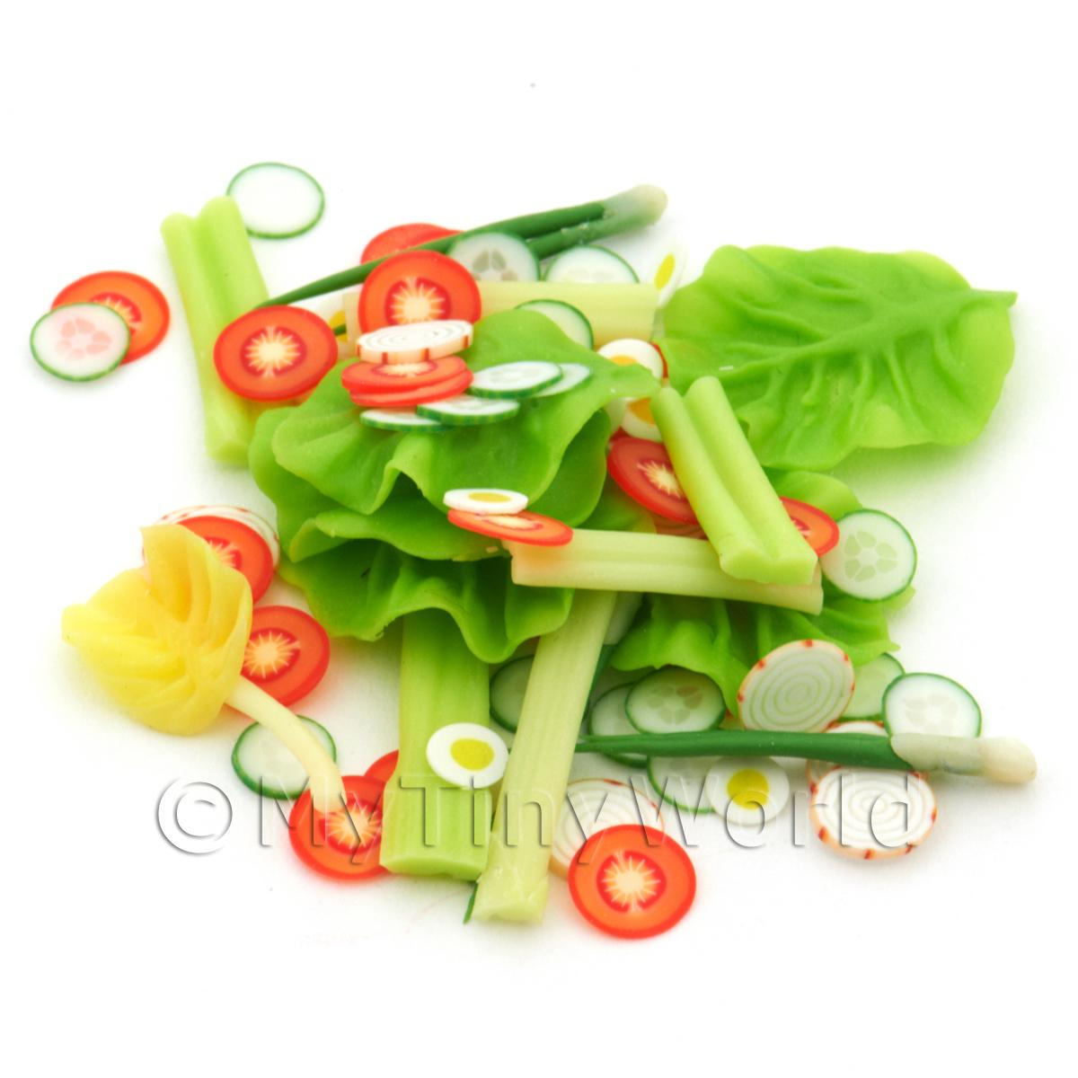 Dolls House Miniature Loose Salad Pack