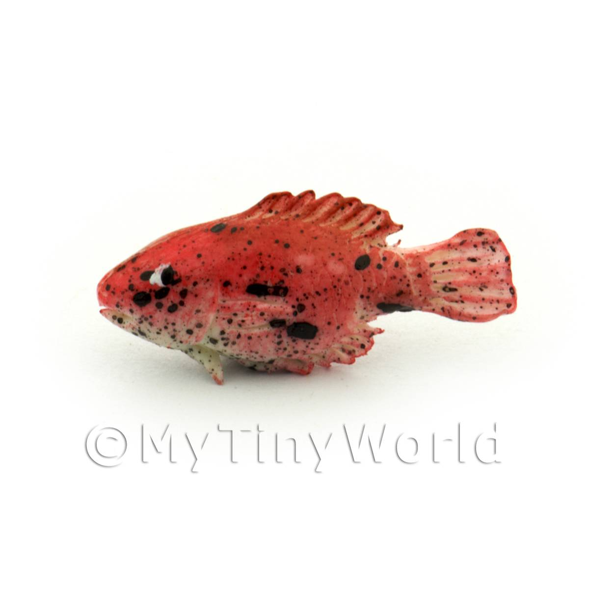 Dolls House Miniature Red Fish With Black Spots