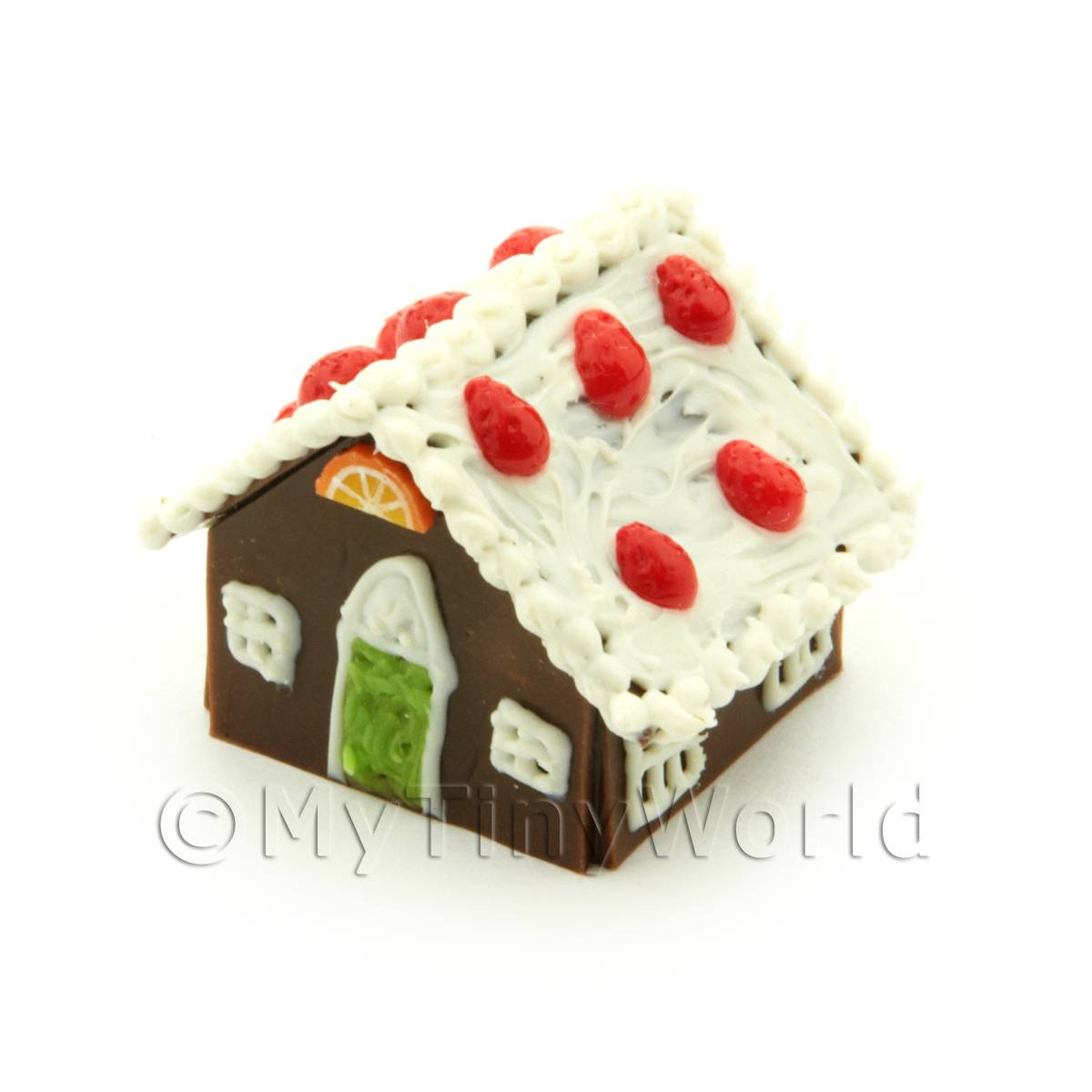 Dolls House Miniature Strawberry Gingerbread House