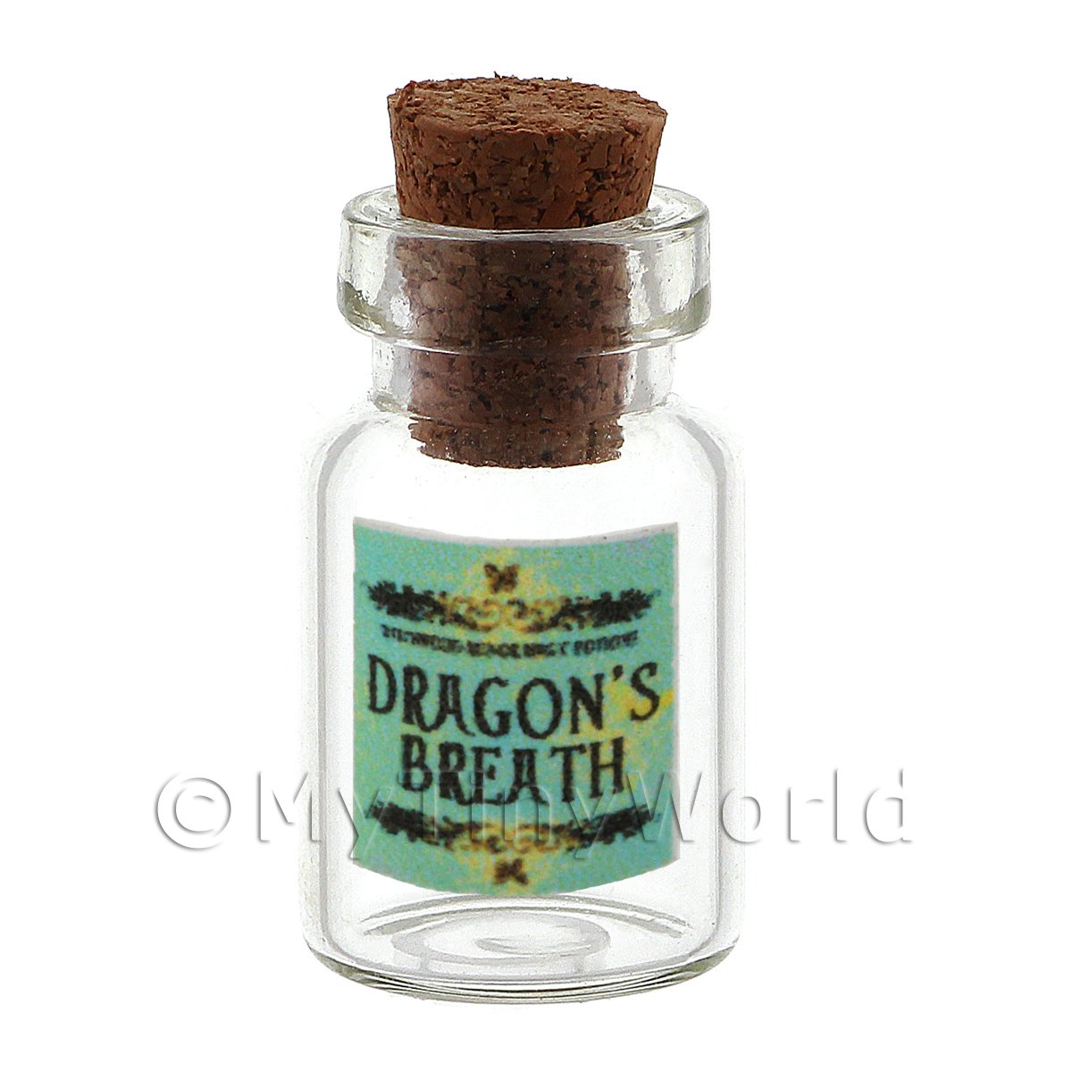 Dolls House Miniature Dragons Breath Magic Storage Jar